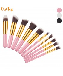 10pcs maquiagem brush set ferramentas make-up