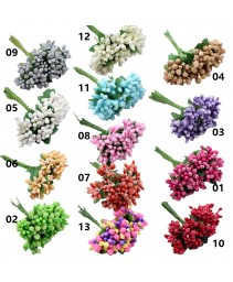 12pcs flores artificiais
