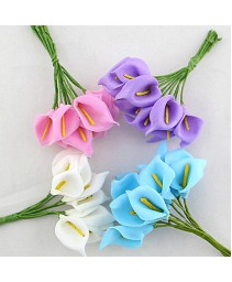 12pcs mini espuma calla handmake flor artificial